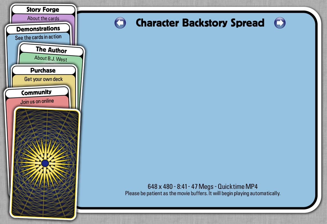 Story Forge Cards - Character Backstory Spread