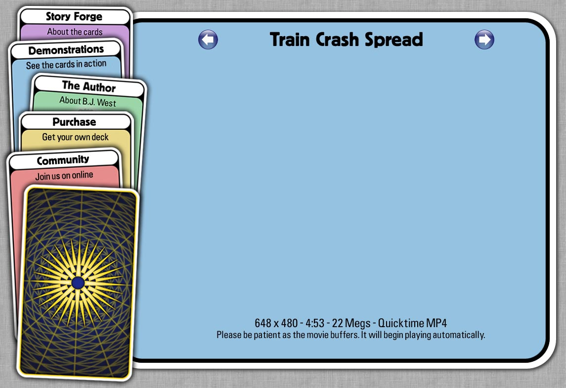 Story Forge Cards - Train Crash Spread